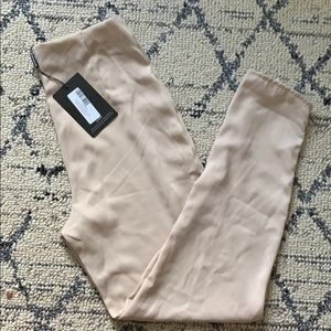 Nude Skinny high rise trousers